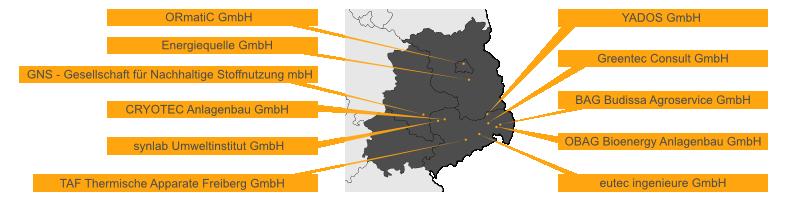Mitgliederstandorte mit Karte